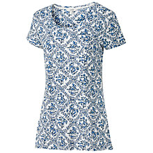 Buy Fat Face Bird Print T-Shirt, White Online at johnlewis.com