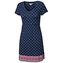 Buy Fat Face Rusper Aadita Border Tunic Dress, Indigo Online at johnlewis.com