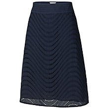 Buy Fat Face Broderie Skirt, Navy Online at johnlewis.com