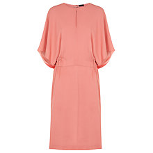 Buy Jaeger Silk Soft Dress, Peach Blossom Online at johnlewis.com