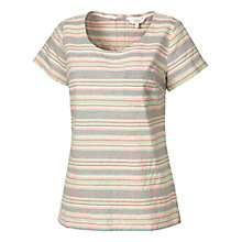 Buy Fat Face Jasmine Jacquard Stripe Shell T-Shirt, Multi Online at johnlewis.com