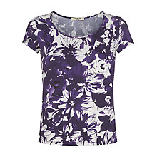 Buy Precis Petite Scoop Neck Print Top, Multi Purple Online at johnlewis.com