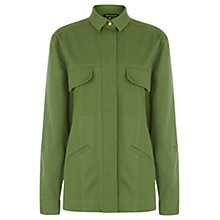 Buy Warehouse Casual Utility Jacket, Khaki Online at johnlewis.com