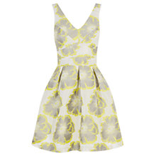 Buy Warehouse Floral Jacquard Dress, Multi Online at johnlewis.com