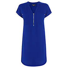 Buy Warehouse Zip Front Crepe Dress Online at johnlewis.com