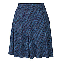 Buy Fat Face Jersey Diamond Skirt, Chambray Online at johnlewis.com