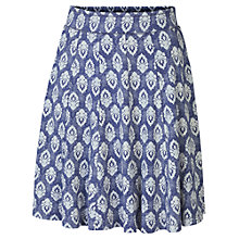 Buy Fat Face Jersey Rachita Skirt, Dark Chambray Online at johnlewis.com