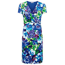 Buy Precis Petite Floral Print Jersey Dress, Blue Online at johnlewis.com