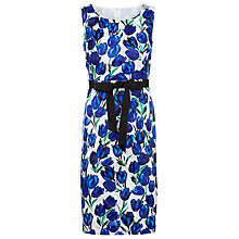 Buy Precis Petite Tulip Print Shift Dress, Blue / White Online at johnlewis.com