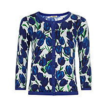 Buy Precis Petite Tulip Print Knitted Cardigan, Blue / White Online at johnlewis.com
