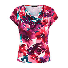 Buy Precis Petite Floral Print Cowl Neck Top, Multi Online at johnlewis.com