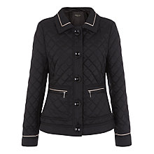 Buy Precis Petite Short Quilted Coat, Black Online at johnlewis.com