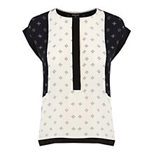 Buy Warehouse Geo Ditsy Print Top, Multi Online at johnlewis.com