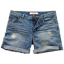 Buy Fat Face Rip and Repair Shorts, Denim Online at johnlewis.com