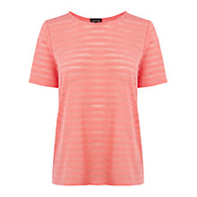 Buy Warehouse Stripe Burnout T-Shirt Online at johnlewis.com