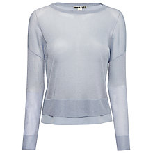 Buy Whistles Layered Hem Sparkle Jumper, Pale Blue Online at johnlewis.com