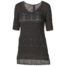 Buy Fat Face Harpford Lace Jumper, Phantom Online at johnlewis.com