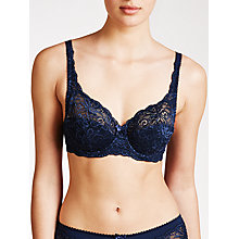Buy John Lewis Lauren Lace Padded Bra, Haze Blue Online at johnlewis.com