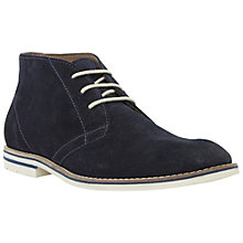 Buy Dune Canter White Sole Suede Boots, Navy Online at johnlewis.com