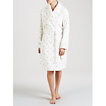 Buy John Lewis Heart Print Fleece Robe, Ivory Online at johnlewis.com