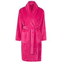 Buy John Lewis Fleece Waffle Robe, Pink Online at johnlewis.com