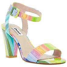 Buy Dune Monet Block Heel Sandals, Multi Online at johnlewis.com