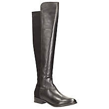 Buy Clarks Caddy Belle Over The Knee Leather Boots, Black Online at johnlewis.com