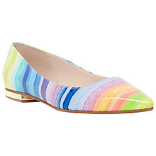 Buy Dune Birdie Flat Toe Pointed Pumps, Multi Online at johnlewis.com