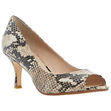 Buy Dune Delphinn Peep Toe Court Shoe, Natural Leather Online at johnlewis.com