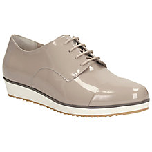 Buy Clarks Compass Fayre Leather Lace Up Pumps, Mushroom Online at johnlewis.com