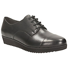 Buy Clarks Compass Fayre Leather Lace Up Pumps, Black Online at johnlewis.com