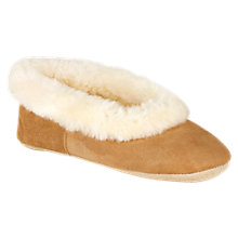 Buy Just Sheepskin Queen Slippers, Chestnut Online at johnlewis.com