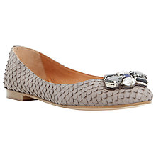Buy Dune Hubble Embellished Ballet Pumps, Grey Online at johnlewis.com