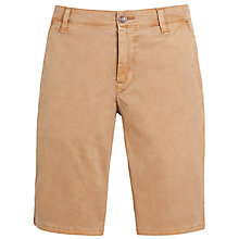 Buy BOSS Orange Bedford Twill Shorts, Sand Online at johnlewis.com