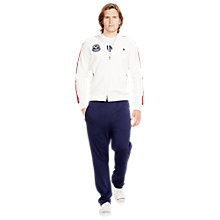 Buy Polo Ralph Lauren Wimbledon Fleece Jacket, Classic Oxford White Online at johnlewis.com