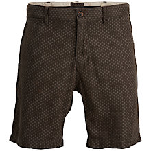Buy Selected Homme Dott Linen Shorts, Pirate Black Online at johnlewis.com