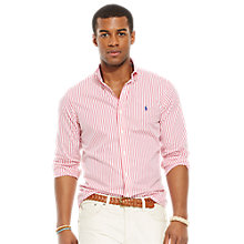 Buy Polo Ralph Lauren Poplin Stripe Shirt Online at johnlewis.com