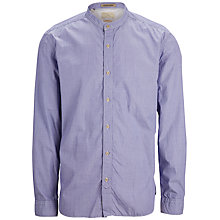 Buy Selected Homme Dix Grandad Collar Shirt, Light Blue Online at johnlewis.com