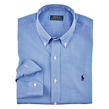 Buy Polo Ralph Lauren Solid Poplin Shirt, Blue Online at johnlewis.com