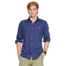 Buy Polo Ralph Lauren Long Sleeve Linen Shirt Online at johnlewis.com