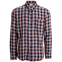 Buy Selected Homme One Sports Shirt, Navy Blazer/Red Online at johnlewis.com