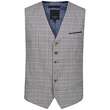 Buy Ted Baker Havwai Check Suit Waistcoat, Natural Online at johnlewis.com