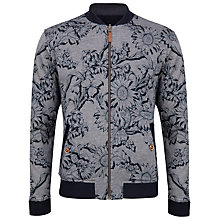 Buy Ted Baker Sunbo Reversible Graphic Bomber Jacket, Navy Online at johnlewis.com