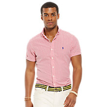 Buy Polo Ralph Lauren Seersucker Gingham Short Sleeve Shirt Online at johnlewis.com