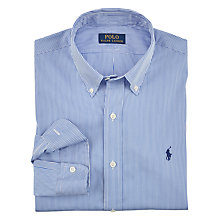 Buy Polo Ralph Lauren Stripe Cotton Poplin Slim Fit Shirt, Blue/White Online at johnlewis.com