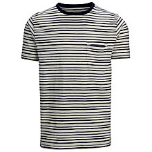 Buy Selected Homme Boe Striped T-Shirt, Marshmallow/Navy Blazer Online at johnlewis.com