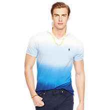 Buy Polo Ralph Lauren Dip Dyed Ombre Polo Shirt, Soho Blue Online at johnlewis.com