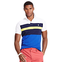Buy Polo Ralph Lauren Custom Fit Graphic Print Polo Shirt, Multi Online at johnlewis.com