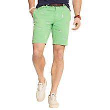 Buy Polo Ralph Lauren Shark Chino Shorts, Toucan Green Online at johnlewis.com