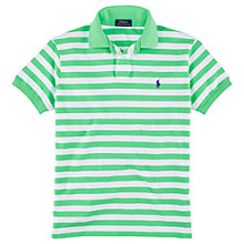 Buy Polo Ralph Lauren Custom Fit Striped Polo Shirt Online at johnlewis.com